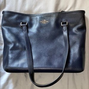 Navy Blue Coach Purse